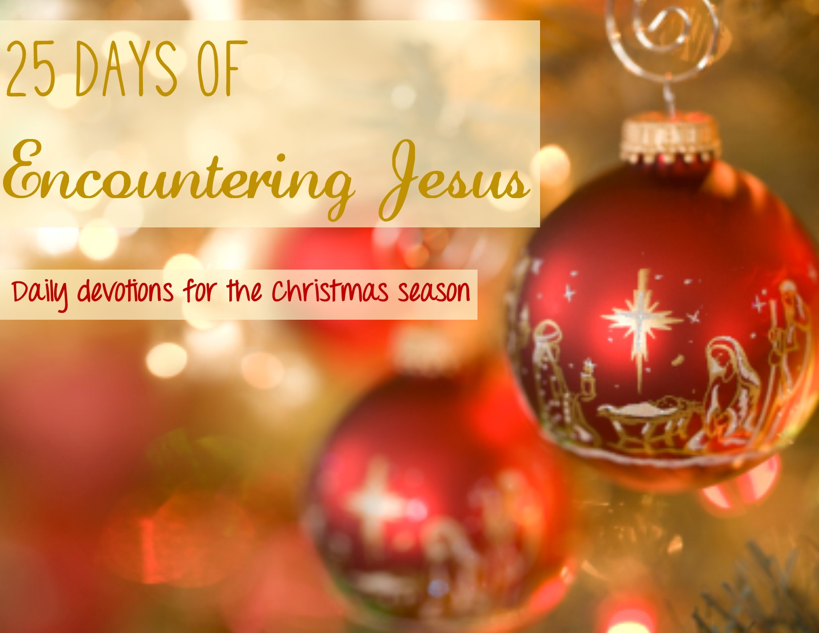 ... to Christmas with Chrismons 25 Days of Christmas Family Advent Plan
